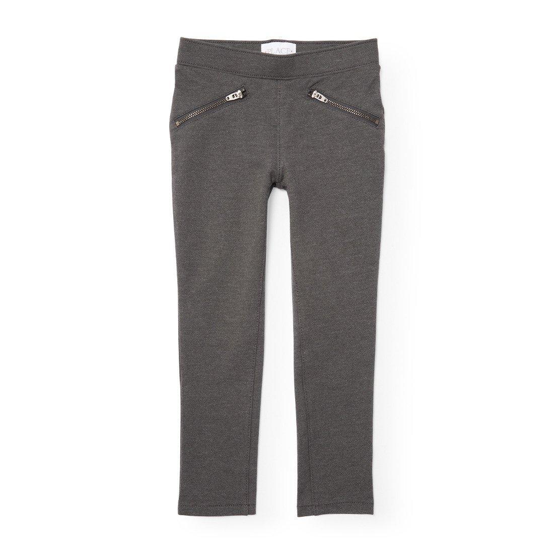 The Children's Place Girls' Stretch Zipper Ponte Pant
