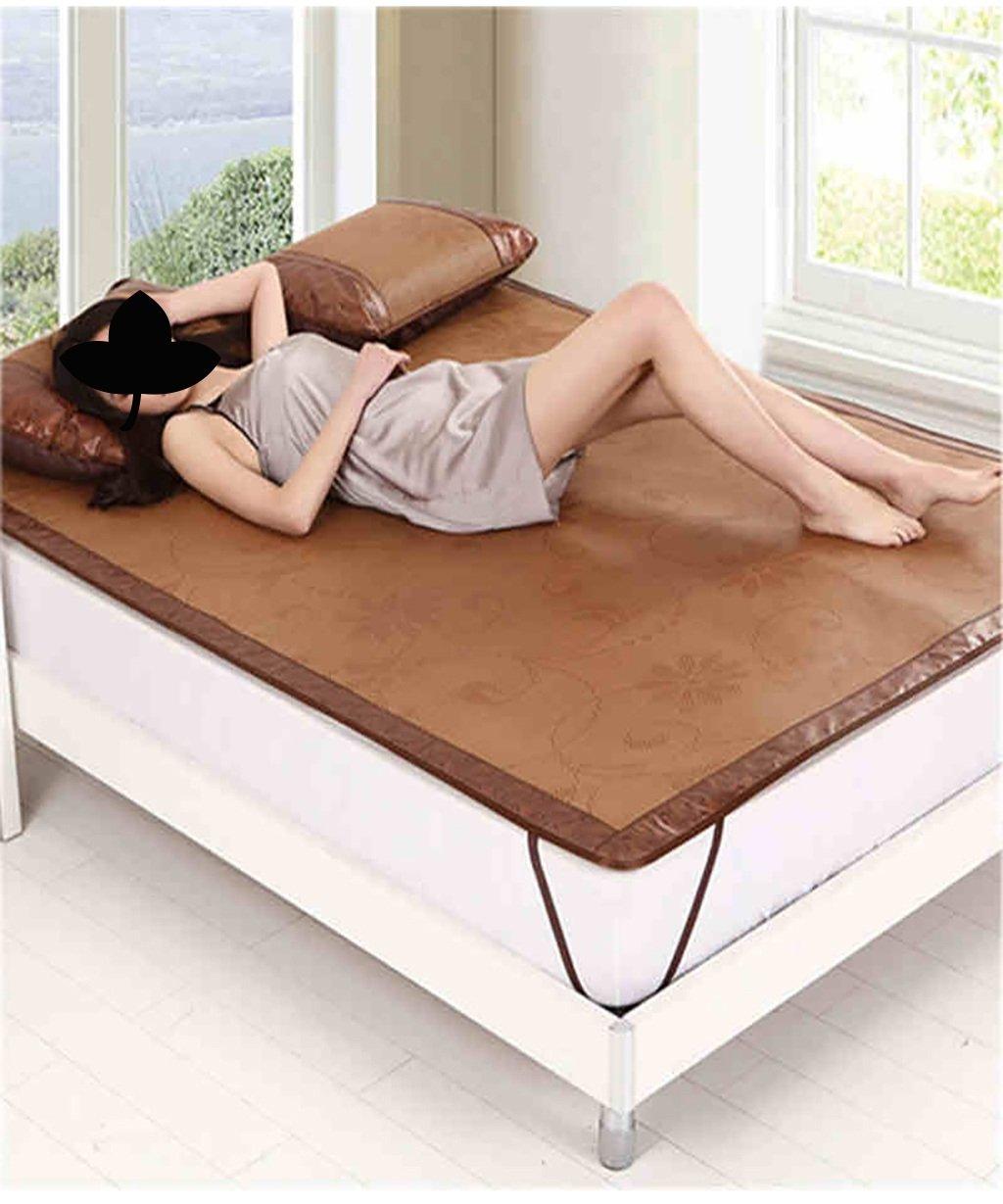 WENZHE Matratzen Strohmatte Teppiche Bambus Sommer Schlafmatten Haushalt Atmungsaktiv Faltbar Matten (Farbe : B(Breathable Type), größe : 0.8  1.9m)