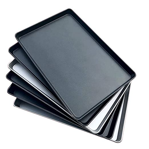 Sloxd - Bandeja de horno antiadherente de aluminio grueso, 40 x 60 ...