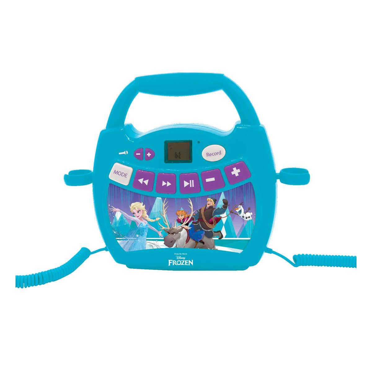 Lexibook Disney Frozen Anna y Elsa reproductor de cd para niños con 2 Micrófonos De Juguete,