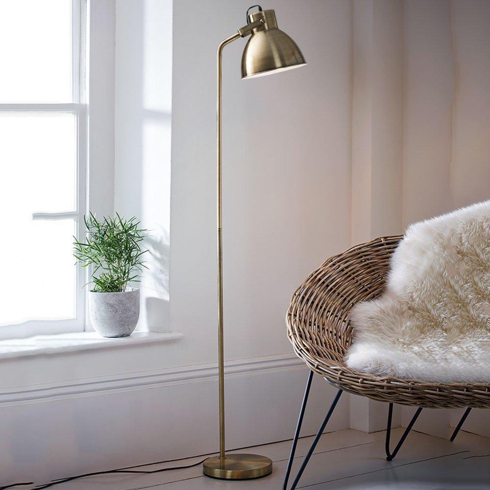 Im europäischen Stil Stehlampe Serie Eye Eisen schmiedeeiserne Stehlampe Studie lesen Schlafzimmer Schlafzimmer Wohnzimmer Stehleuchte Einfache und moderne kreative LED vertikal Stehleuchte (Farbe wahlweise freigestellt) - Retro-Stehlampe ( farbe : B )