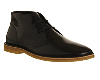 Ask The Missus Cookie Desert Boot Black Hi Shine Leather