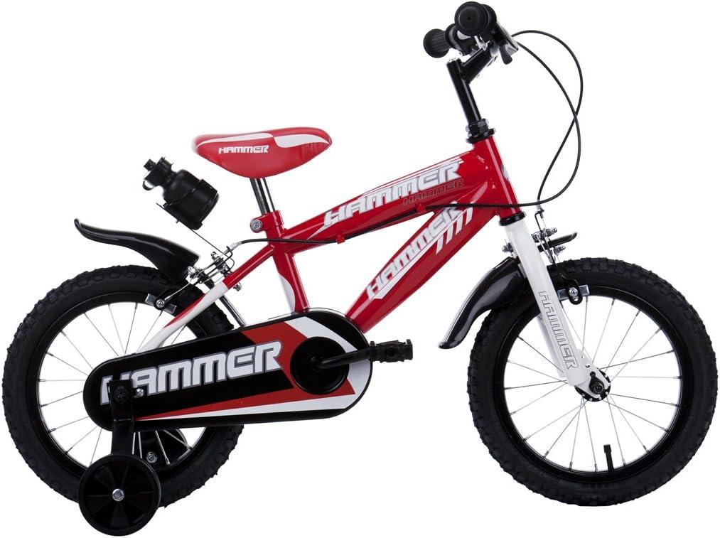 Schiano Hammer - Bicicleta (incluye porta botellas) rojo Talla:16 ...