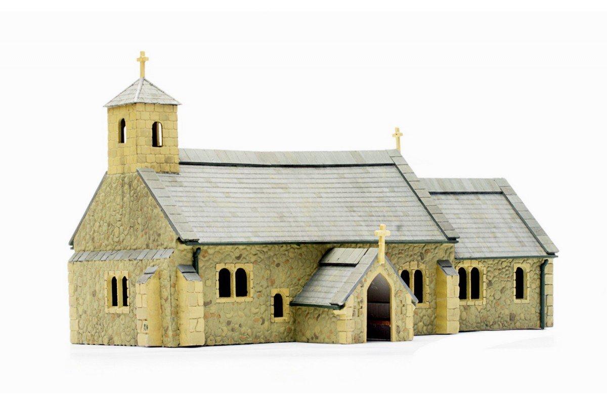 Dapol Model Railway Village Church Plastic Kit - OO Scale 1/76