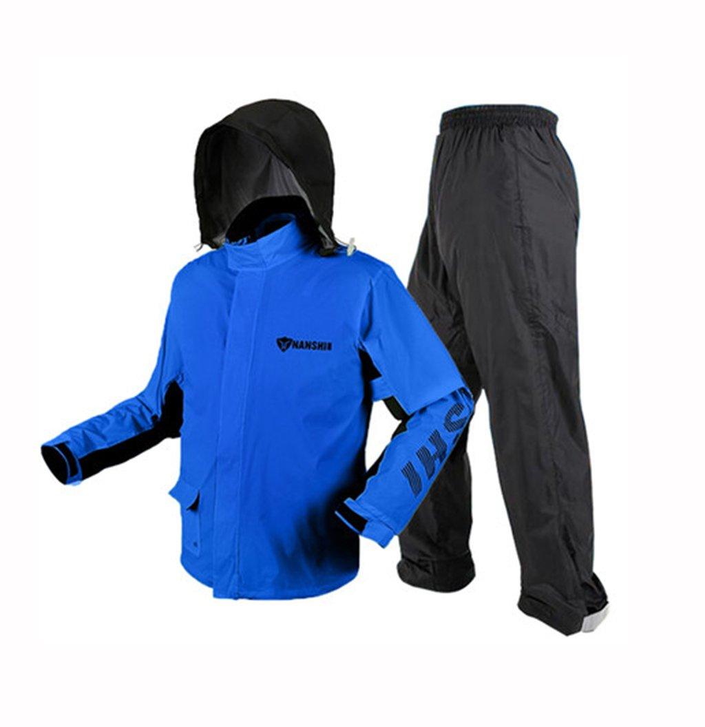 Regenmantel Regen Hosen Anzug männlich Erwachsene Split Sommer Takeaway dünne Wasserdichte Körper Regenmantel blau (größe   M)