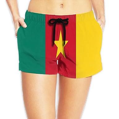 Amazon.com  Yongchuang Feng Flag Of Cameroon Women s Cool Hot Pants Summer  Casual Beach Shorts Quick Dry Swim Trunks  Clothing de9e5e76a1