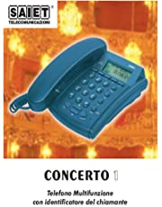Saiet CONCERTO 1 GRIGIO Telefono a Filo, Grigio Chiaro