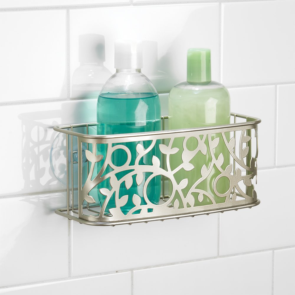 Old Fashioned Brushed Nickel Shower Caddy Frieze Bathtub