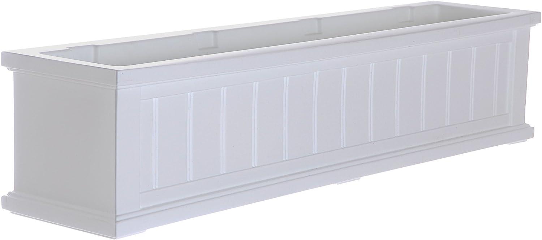 Mayne 4841-W Cape Cod Polyethylene Window Box, 4 , White