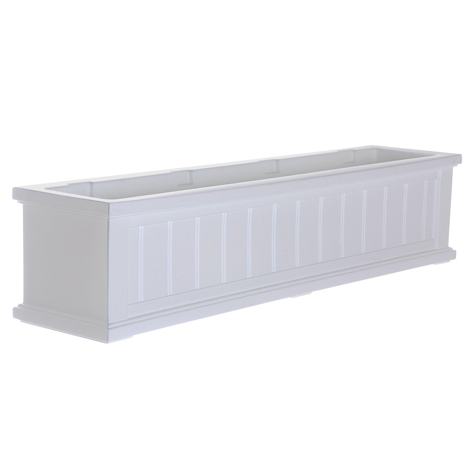 Mayne 4841-W Cape Cod Polyethylene Window Box, 4' White