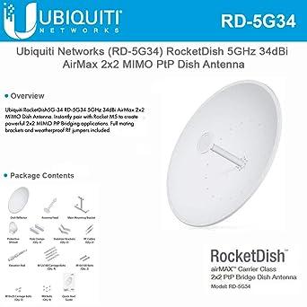 Ubiquiti Networks RD-5G34 - Antena de red AirMAX de 34 dBi ...