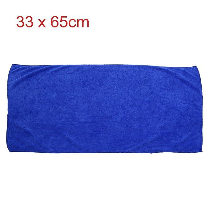 Amazon.com: eDealMax 2pcs Azul Amarillo Inicio Alquiler de pulido de limpieza Lavado Wipe toalla 33cm x 65cm: Automotive
