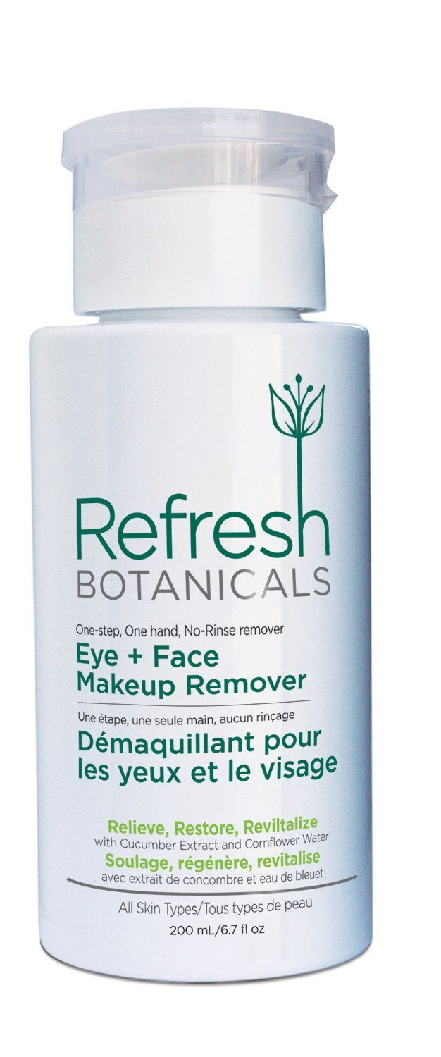 Refresh Botanicals Natural and Organic Eye and Face Makeup Remover, Parabens free, Gluten free, Oil and Alcohol free- Best Makeup Remover MaxBioChem Inc.