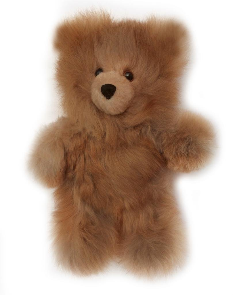 Baby Alpaca Fur Teddy Bear - Hand Made 10 Inch Chocolate Brown by Inca Fashions