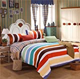 Duvet Cover Sets Fashion Flower Polyester Polished Four Sets Of Rainbow Country, King