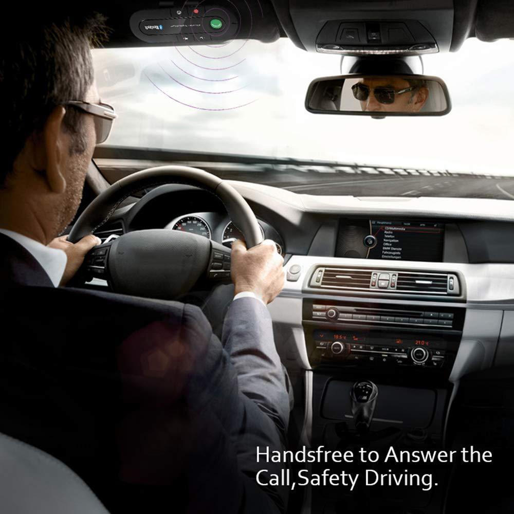 Vivavoce Bluetooth per Auto con Controllo Vocale Auto Bluetooth per Altoparlante Kit Vivavoce Bluetooth per Smartphone connettere Wireless Viva voce