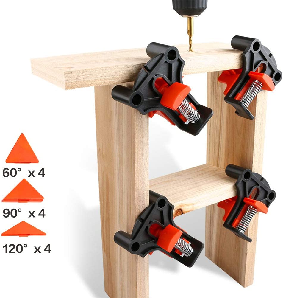 Yakuin Multi-angle Woodworking Clamps,60//90//120 Degree Clamps for Woodworking,Adjustable Corner Clamps Right Angle Clamp Wood Clamps Home Woodworking Tools For Beginner and Woodworker