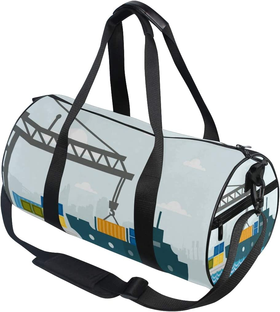 MALPLENA Shipping Cargo Drum gym duffel bag women Travel Bag