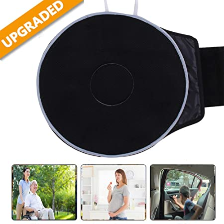 Rotating Swivel Seat Cushion Revolving Foam Mobility Chair Aid,Auto Swivel Seat Cushion Thin Flexible Design for Car Office and Home Use to Relieve Back Pain and Pressure