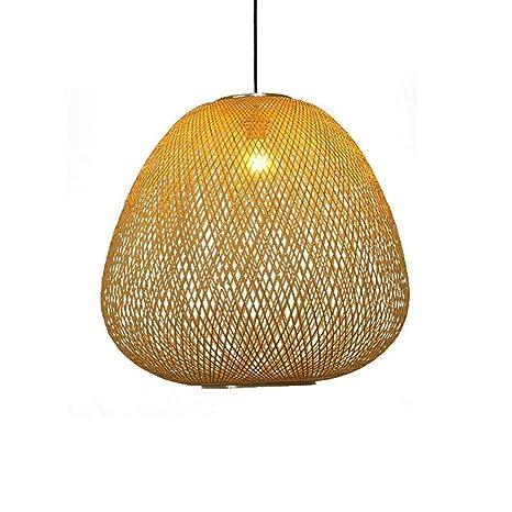 techo cesta Moderna de pendiente de de tejido bambú TYUIO la KJ1Fcl
