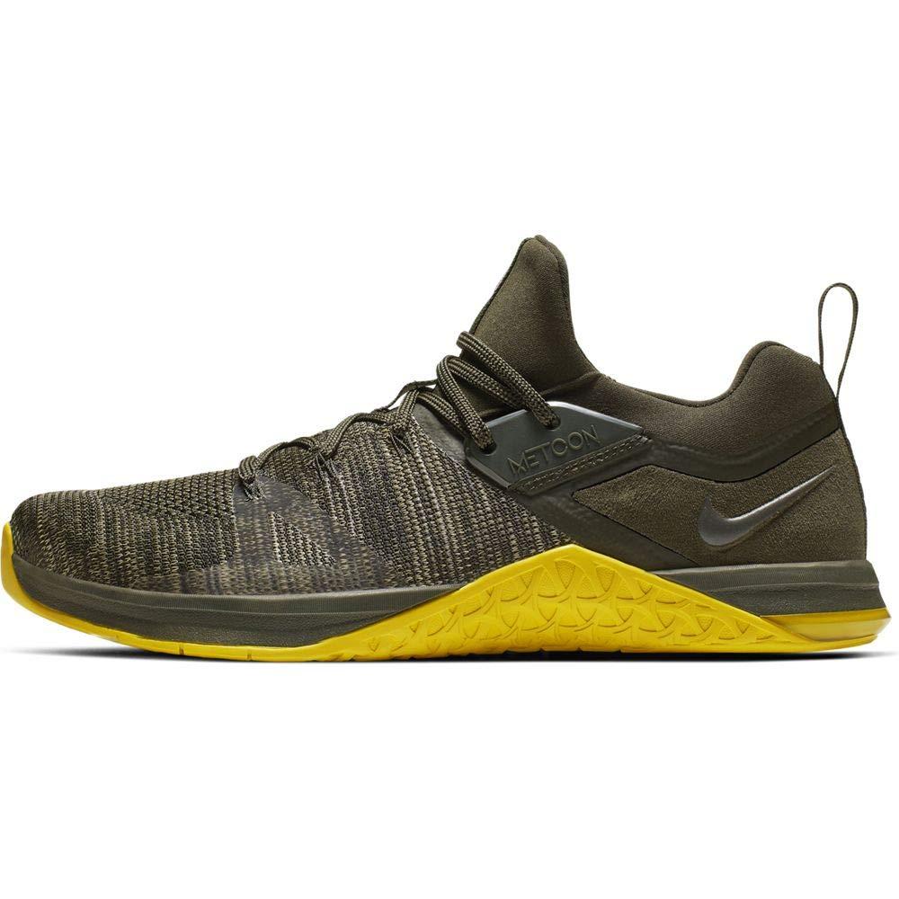 Nike Metcon Flyknit 3 Sz 10 Mens Cross Training Sequoia/Bright Citron Shoes