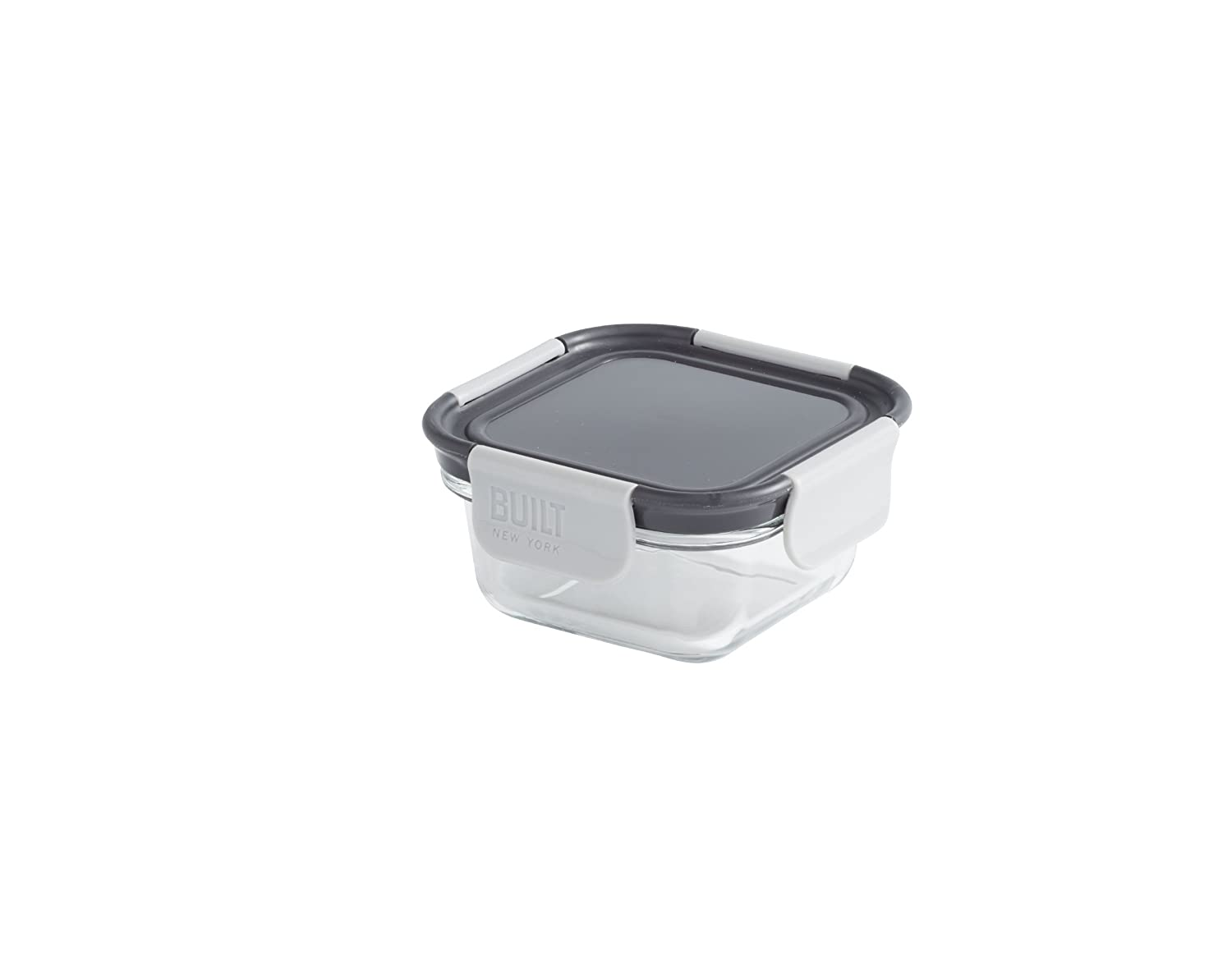 BUILT NY Gourmet Bento Glass Snack Container, 10-Ounce, Black 5183567