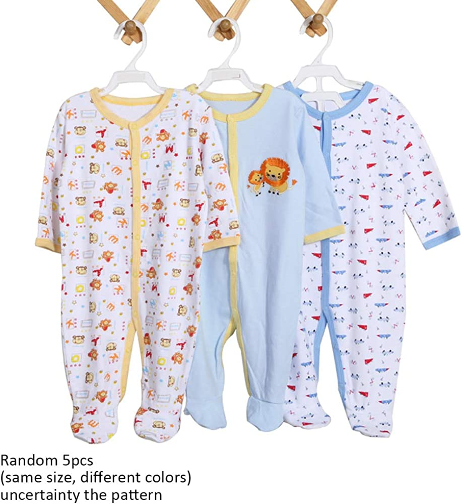 ZEVONDA Baby Boys Girls Bodysuit Long//Short Sleeve//Sleeveless Onesies Newborn Cotton Romper Sleepsuits 0-24 Months