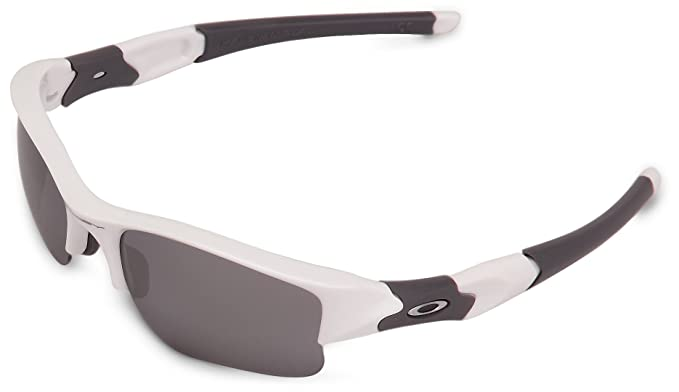 e885d8bdce8 OAKLEY Flak Jacket XLJ Sunglasses Polished White  Oakley  Amazon.co.uk   Clothing
