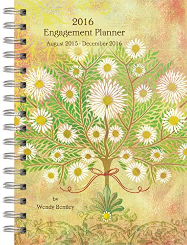 Wells Street by Lang Exuberance 2016 Engagement Planner by Wendy Bentley, August 2015 to December 2016, 6.5 x 8.5 Inches (7005081)
