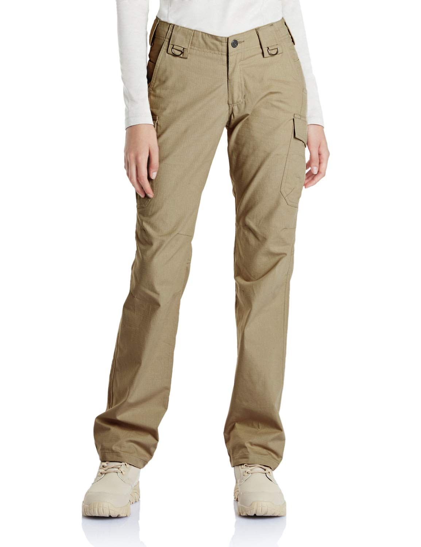 CQR CQ-WFP510-KHK_6/Regular Women's Flex Stretch Tactical Long Pants Lightweight EDC Assault Cargo wiith Multi Pockets WFP510 by CQR (Image #1)