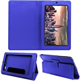 ACM Executive Flip Case for Micromax Canvas Tab P290 Tablet Front & Back Cover Stand Blue