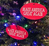 Quantity 2 - PRESIDENT DONALD TRUMP CHRISTMAS TREE ORNAMENT - MAKE AMERICA GREAT AGAIN 4'x6'