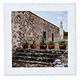 3dRose Danita Delimont - Churches - Mission San Juan Capistrano, Texas - 18x18 inch quilt square (qs_260121_7)