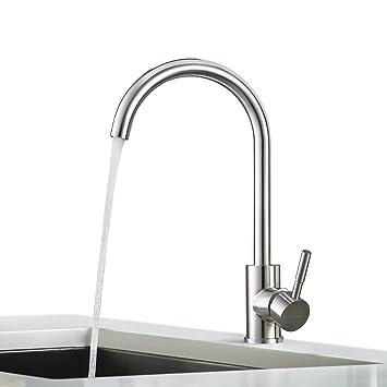BONADE Edelstahl Mischbatterie 360° drehbar Wasserhahn Küche Armatur ...