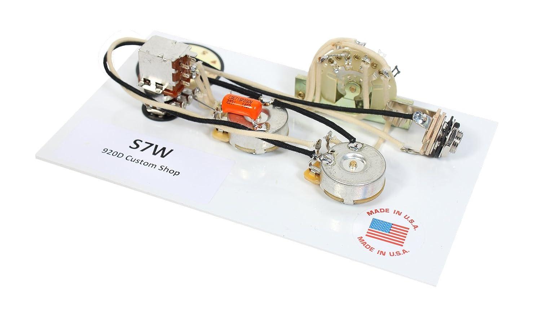 920d Fender Strat Stratocaster 7 Way Wiring Harness Push Pull Pot For Neck On Custom