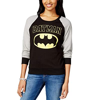 Almost Famous Juniors' Batman Raglan-Sleeve Sweatshirt Size XS: Clothing