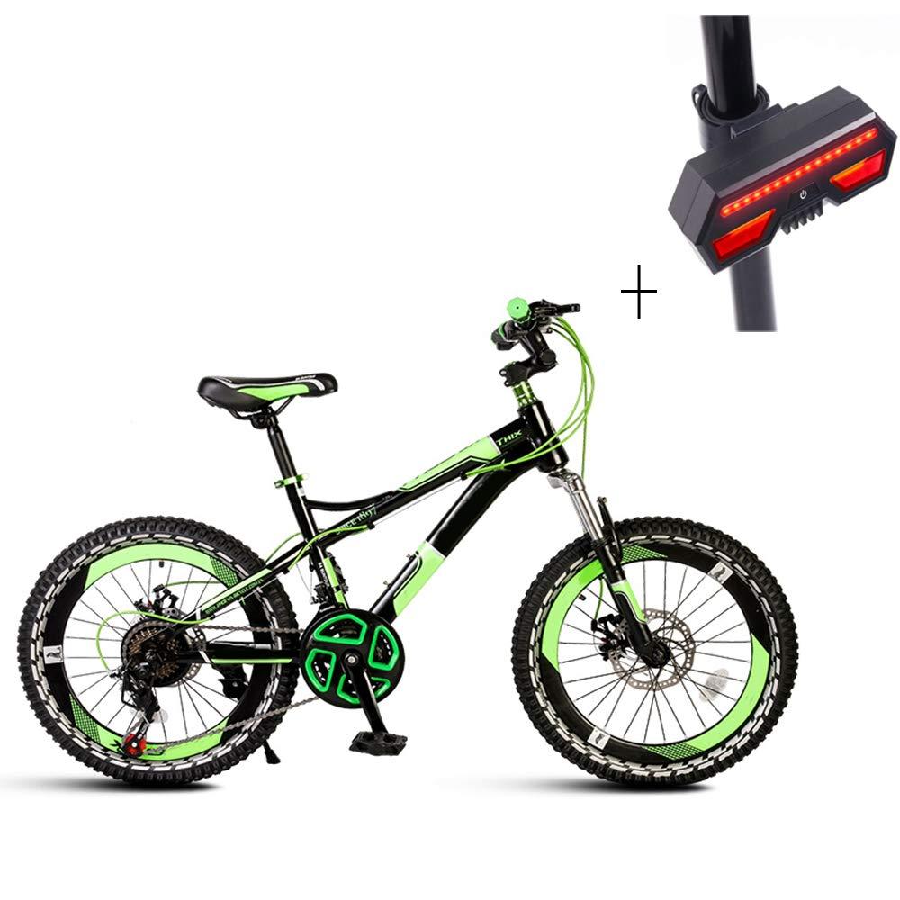 自転車、マウンテンバイク、20インチアル高炭素鋼、21速フロント&リアディスクブレーキ、自転車ターンシグナル   B07GYVYT4C