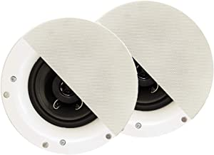 Acoustic Audio R192 Frameless in Ceiling/in Wall Speaker Pair 2 Way Home Theater Surround Speakers