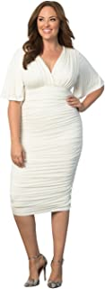 product image for Kiyonna Women's Plus Size Rumor Ruched Dress