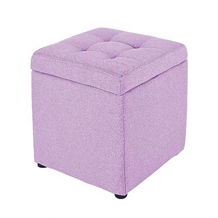 Remarkable Amazon Com Zyn Storage Ottoman Storage Stool Cotton Creativecarmelina Interior Chair Design Creativecarmelinacom