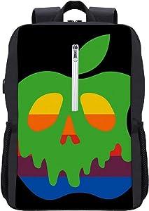 Poison Apple Backpack Daypack Bookbag Laptop School Bag with USB Charging Port