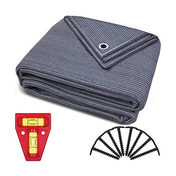 61z but6huL smartpeas Vorzeltteppich – Teppich blau/grau aus Polyethylen (HDPE) mit Edelstahl-Ösen robust & waschbar – mit…