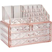 JORAGO Cosmetic Makeup & Jewelry Organiser Acrylic Case(Pink)