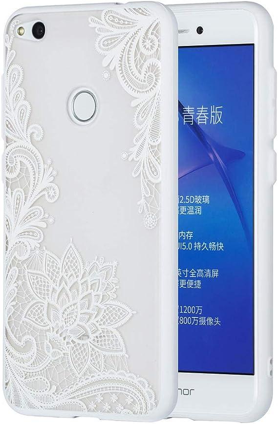 CoverTpu Funda Huawei P8 Lite 2017, Blanco Funda Huawei P8 Lite 2017 Transparente Silicona+PC Dura Ultra Delgado, Carcasa para Huawei P8 Lite 2017 Anti-Rasguño Protectora Caso Blanco Encaje: Amazon.es: Electrónica