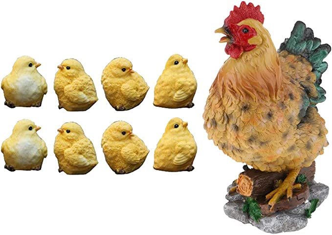 Realistic Lifelike Chick Animals Outdoor Garden Lawn Decor Unique Kids Toy