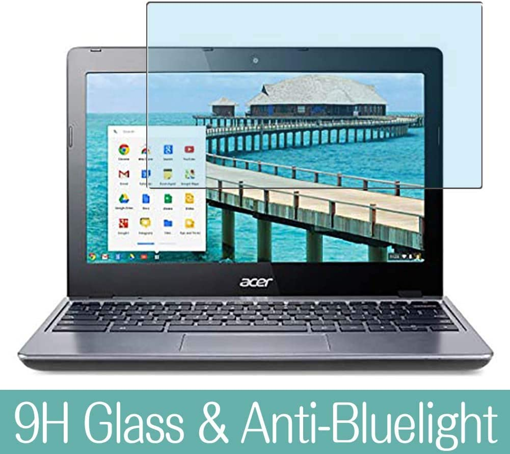 """Synvy Anti Blue Light Tempered Glass Screen Protector for acer Chromebook C720 11.6"""" Visible Area 9H Protective Screen Film Protectors"""