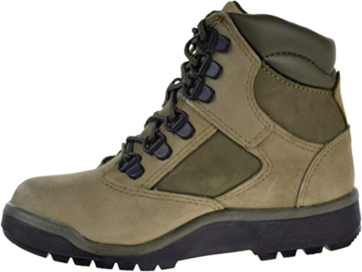Timberland 6/' Leather Field Boots Little Kid/'s Shoes Green Suede TB0A1RHO