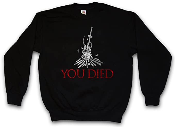 You Died Sudadera para Hombre Sweatshirt Pullover - Firelink Shrine Gamer Nerd Game Tamaños S - 5XL: Amazon.es: Ropa y accesorios