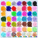 Kirinstores (TM) 6000 PCS 240 Clips Bands Refills for Loom Rainbow Bracelet Dress Making (600 Each of 10 Assorted Color)