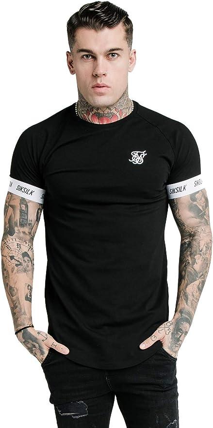 Sik Silk SS-17017 Raglan Tech T-Shirt - Black: Amazon.es: Deportes y aire libre